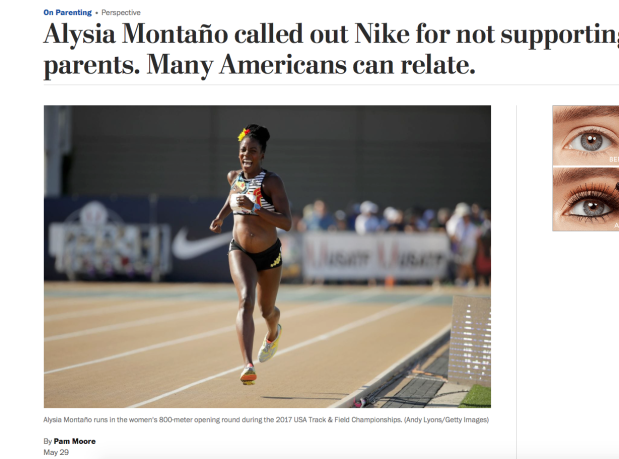 Alysia Montano Calls Nike Out