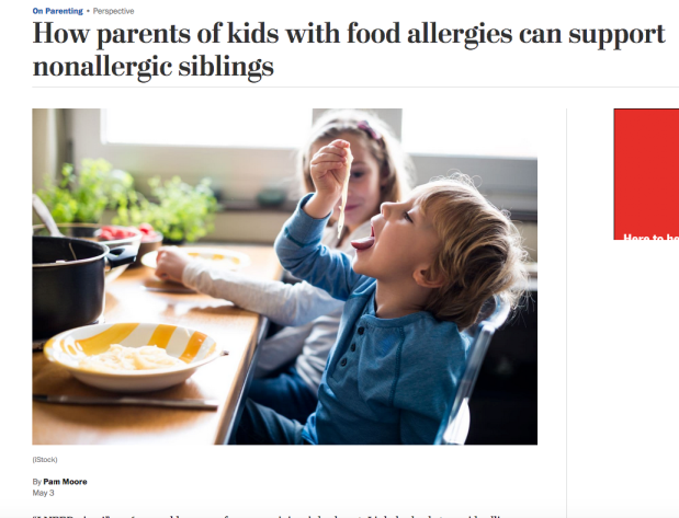 How parents of kids with food allergies can support non-allergic siblings